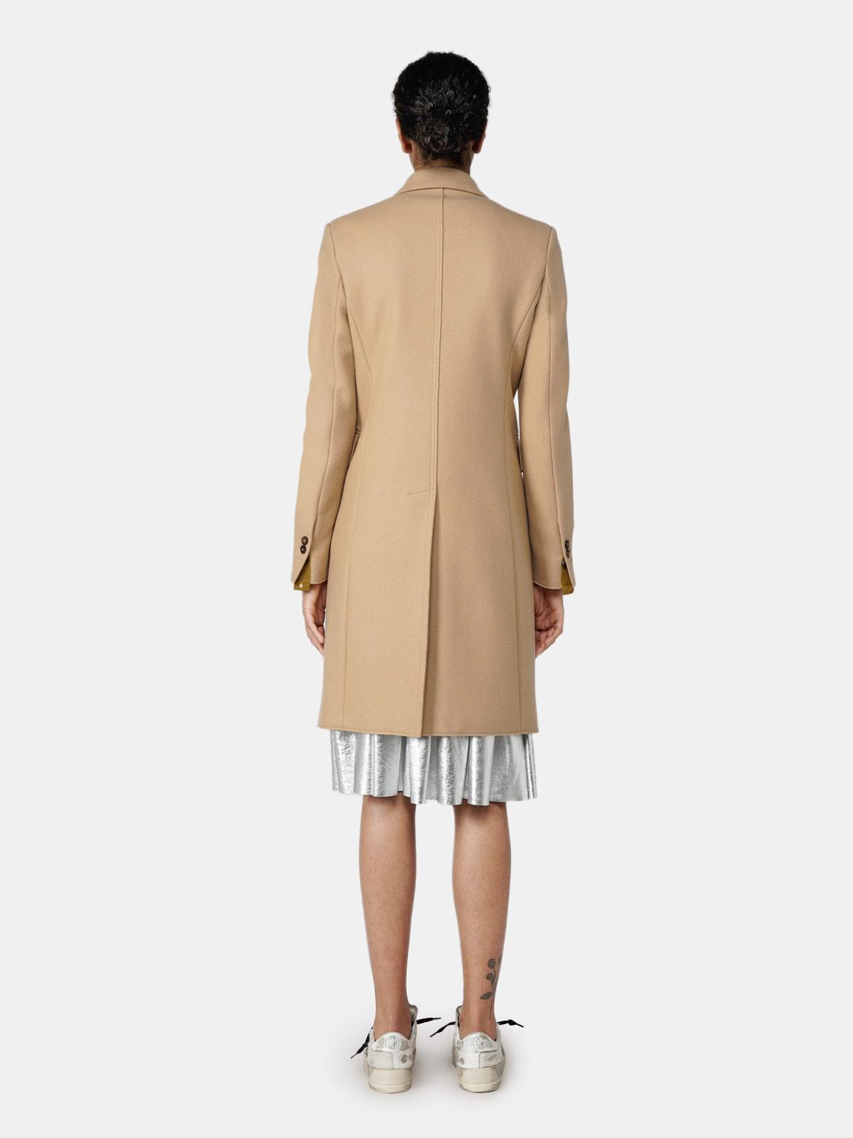 Golden Goose - Alena coat in beige virgin wool in
