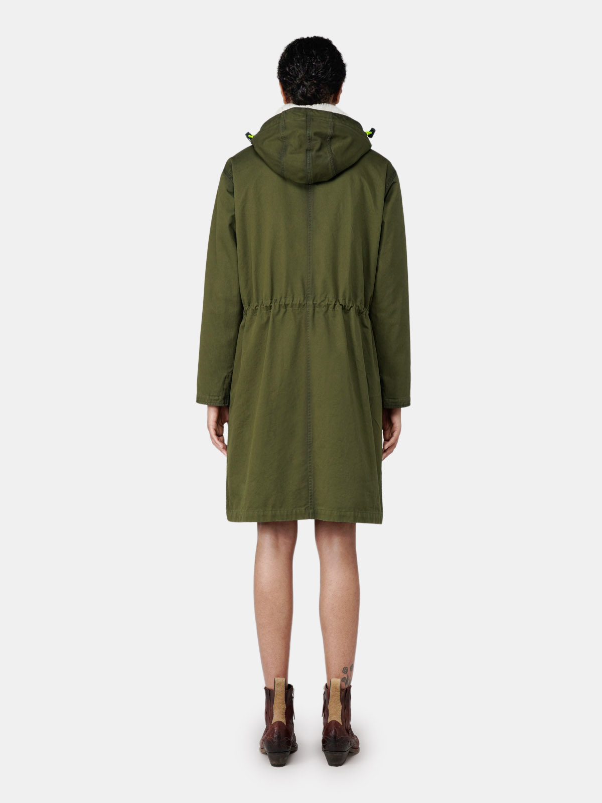 Golden Goose - Aurelia long military green parka in