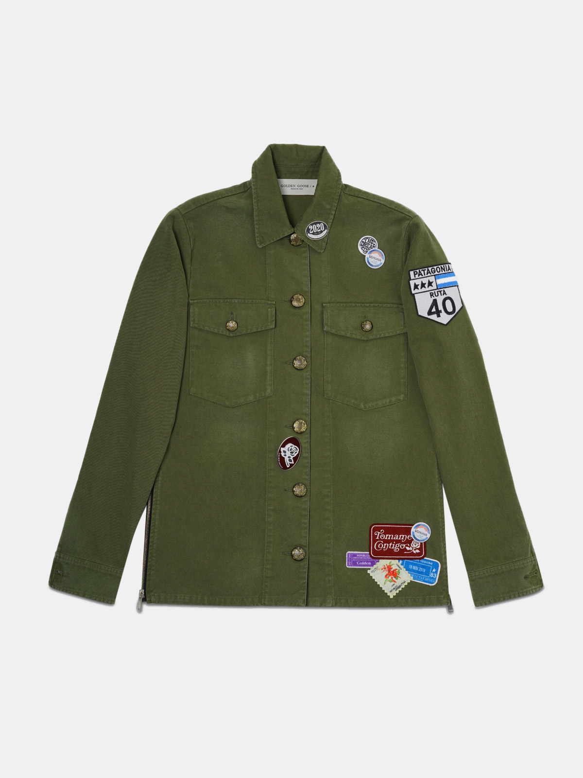 Golden Goose - Angiolina jacket in cotton drill with Argentina patch in