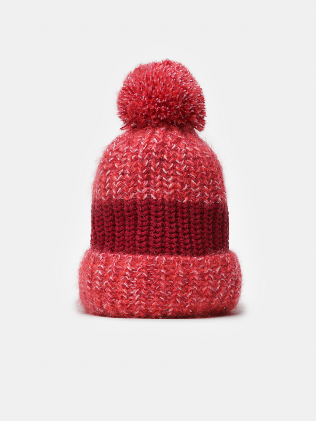 Golden Goose - Andromeda red beanie in mouliné wool in