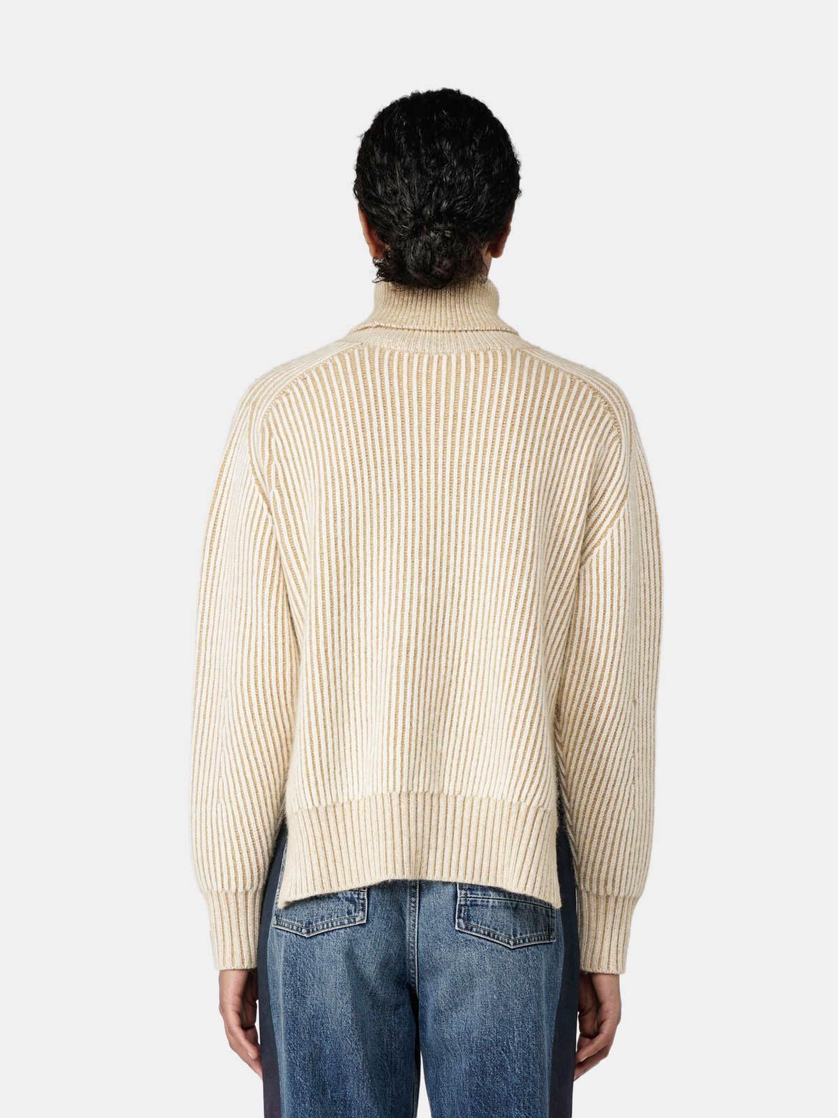 Golden Goose - Caitlyn turtleneck sweater in vanisé wool in
