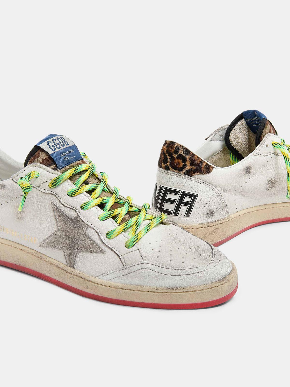 Golden Goose - Sneakers Ball Star in nappa con lacci trekking in