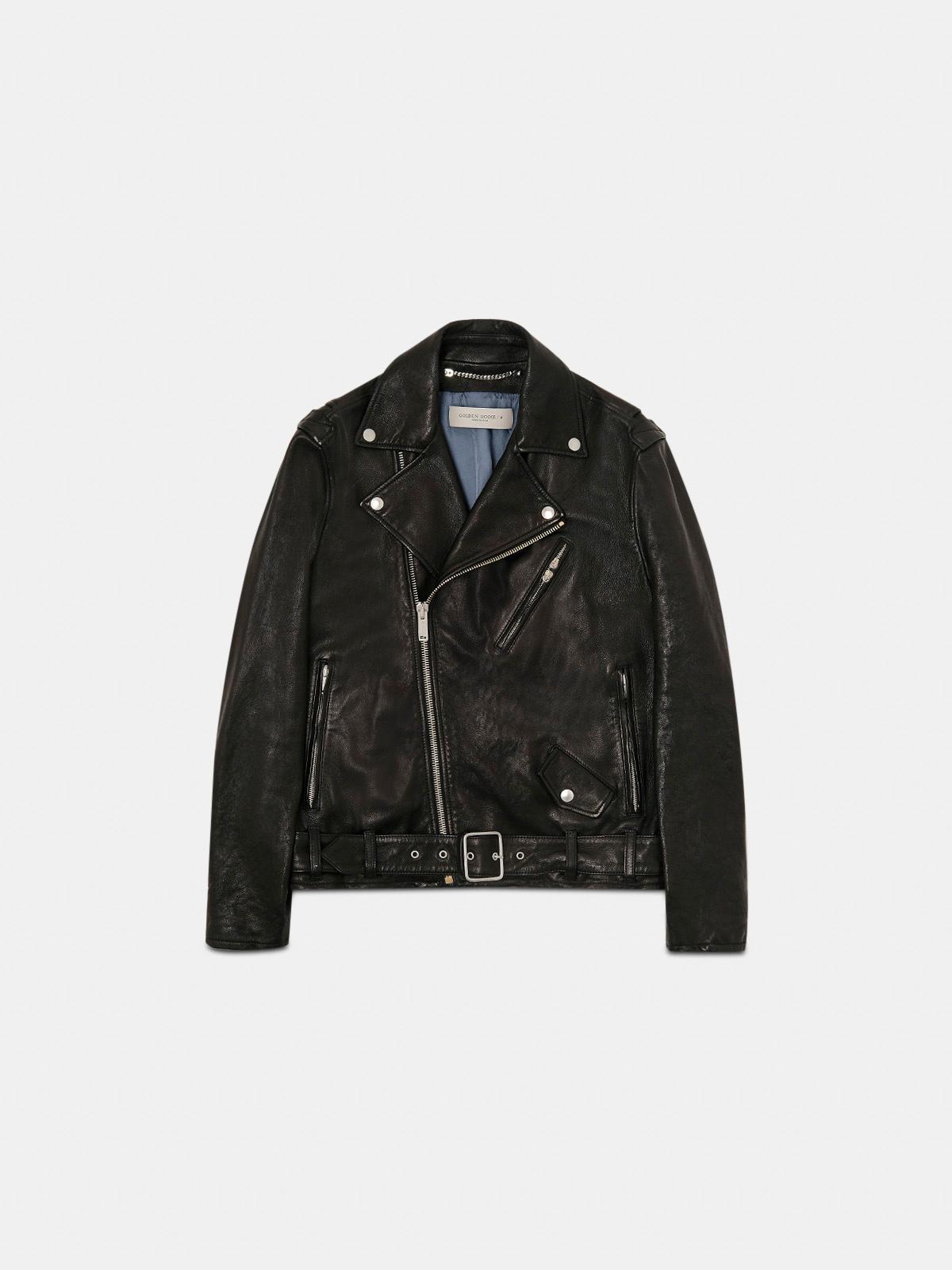 Golden Goose - Golden biker jacket in vegetable-tanned leather in