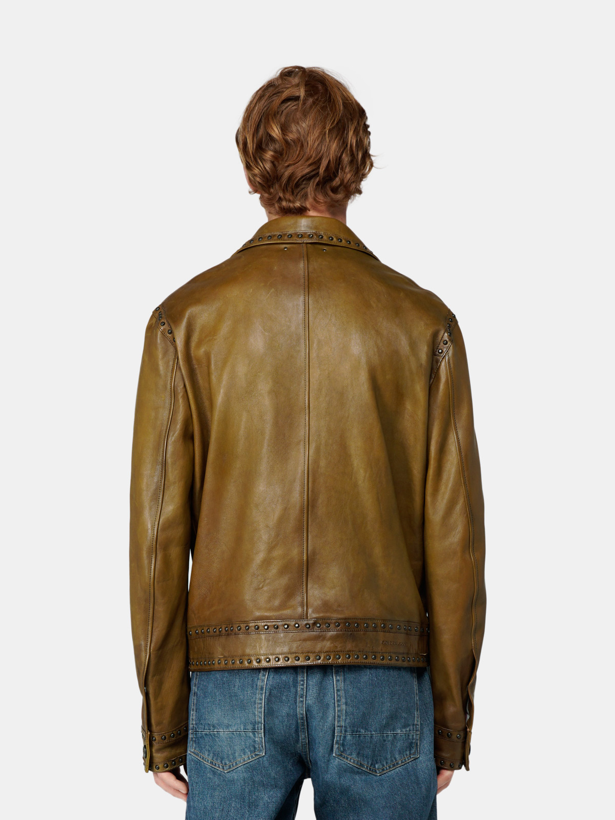 Golden Goose - Arjan jacket in leather with decorative studs in