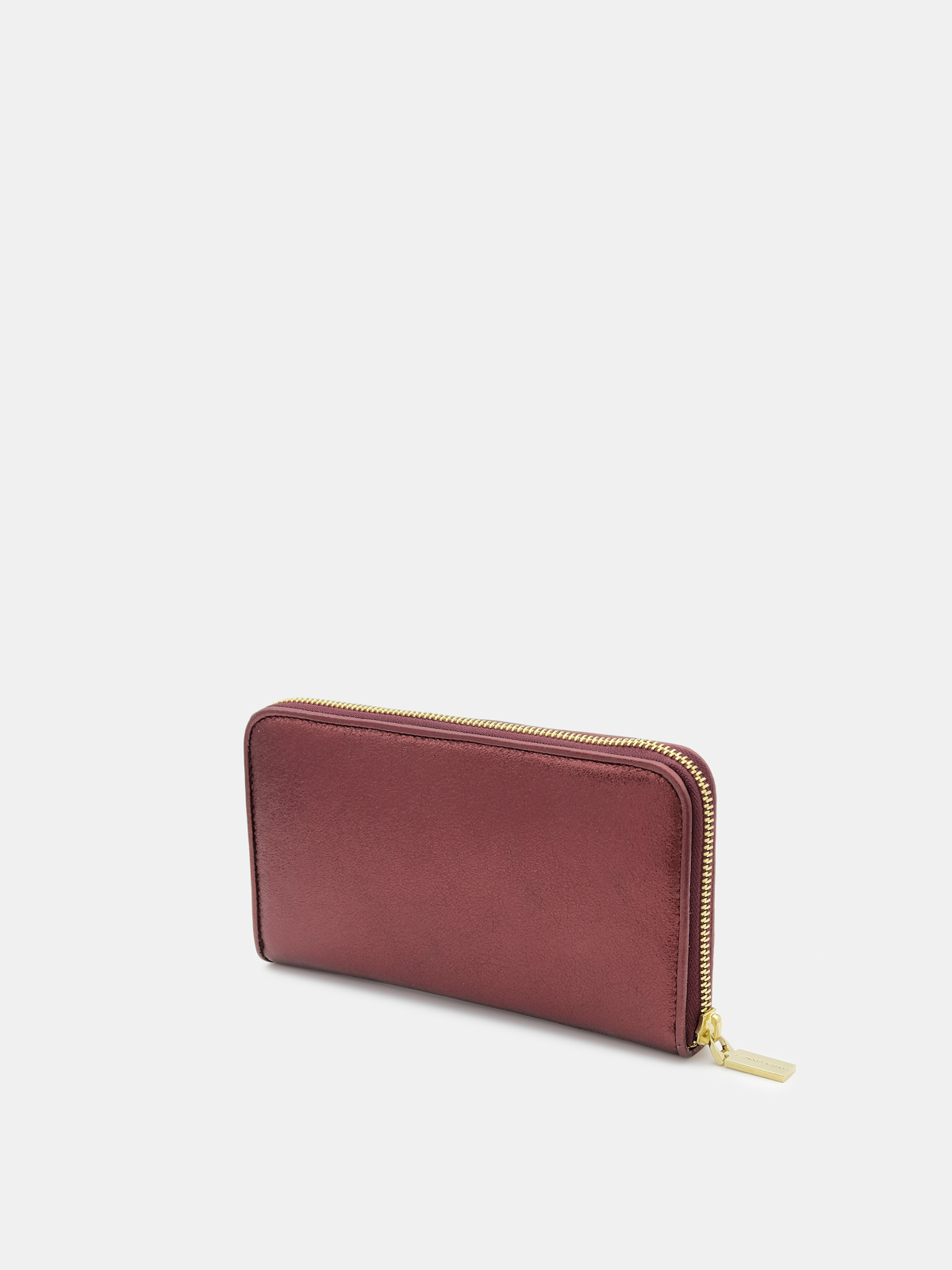 Golden Goose - Large burgundy Star Wallet in laminated leather in