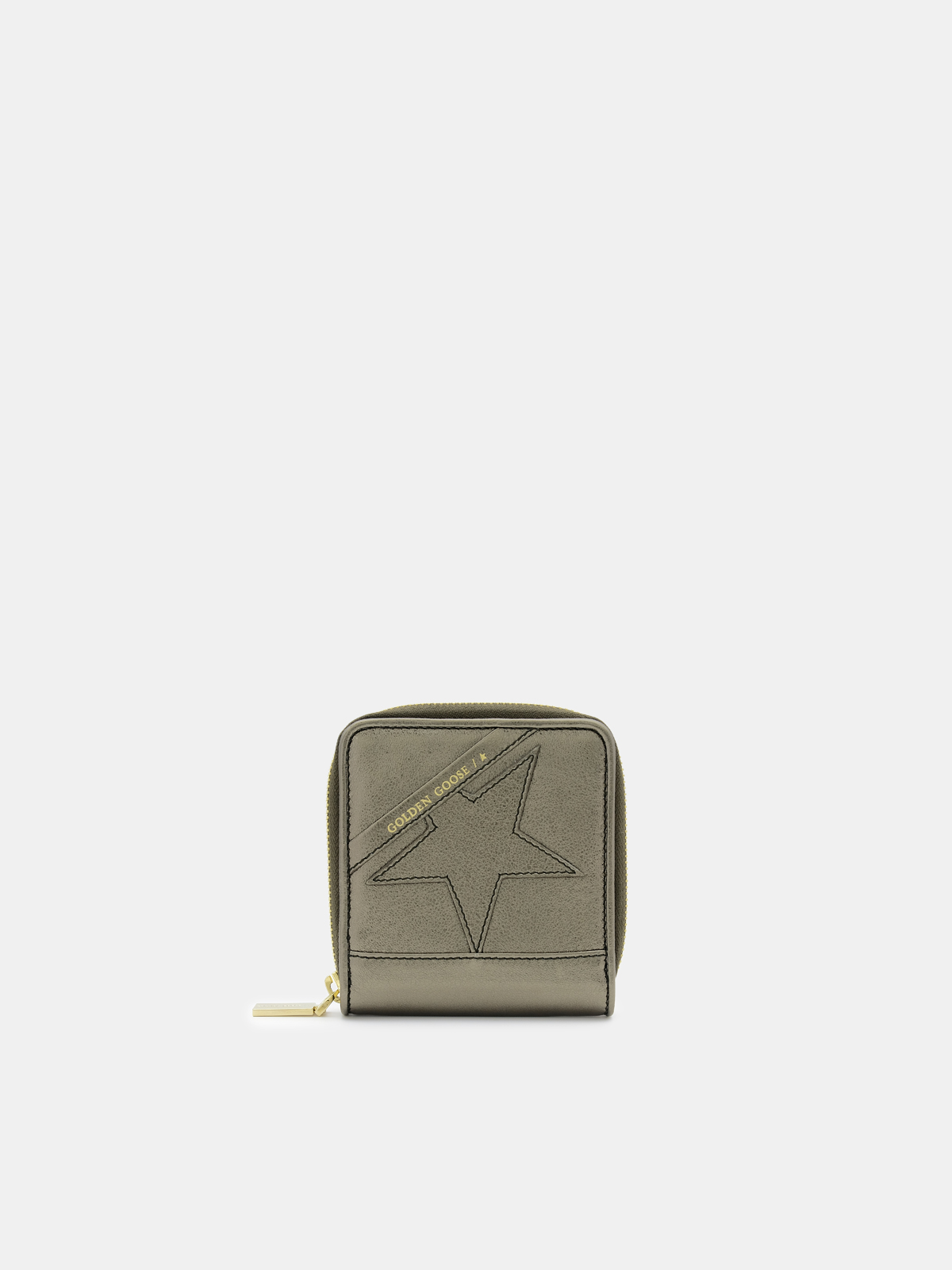 Golden Goose - Medium green laminated Star Wallet in