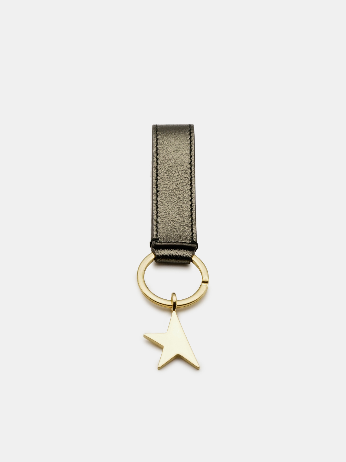 Golden Goose - Metallic green Star Keyring in