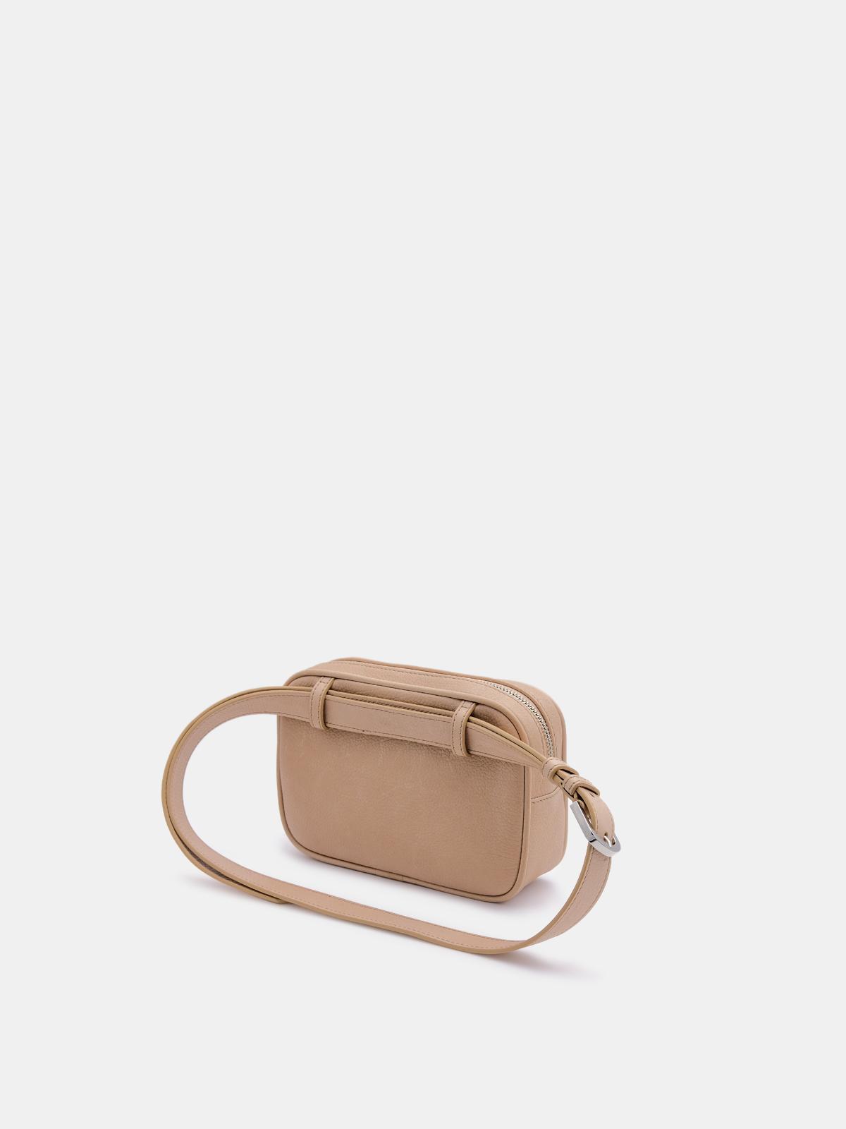 Golden Goose - Nude Star Belt Bag made of hammered leather in