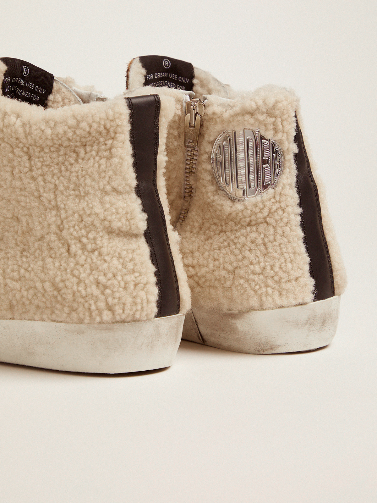 Golden Goose - Francy sneakers made of shearling and pony skin with a leopard print   in