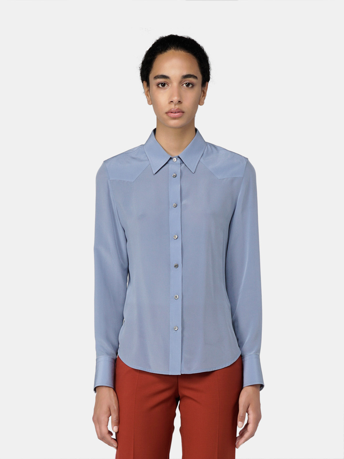 Golden Goose - Alicia shirt in silk crepe de chine in