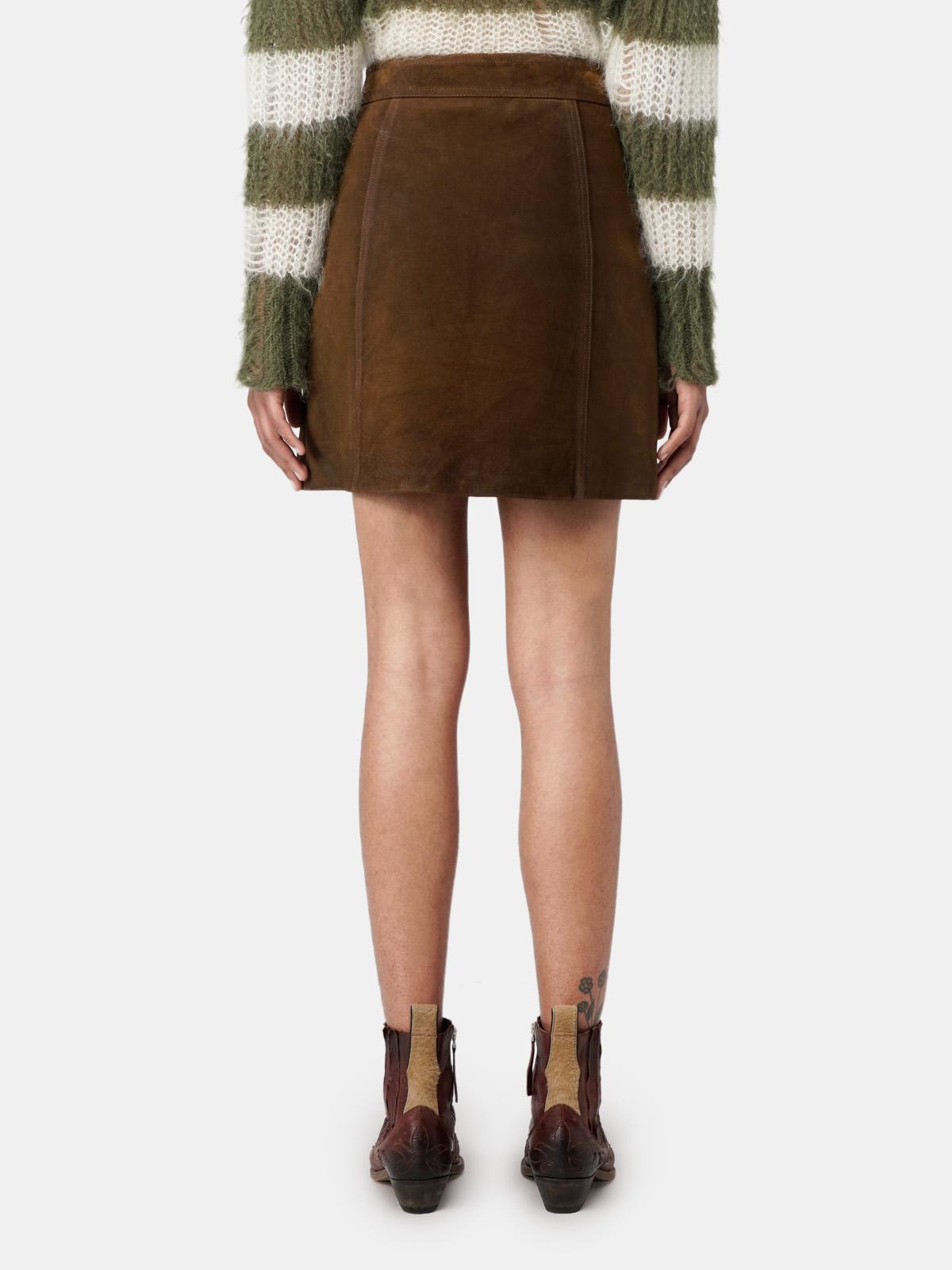 Golden Goose - Artemide miniskirt in tan with studs in