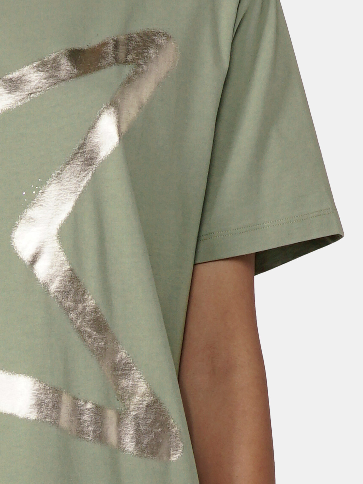 Golden Goose - Aira boyfriend fit T-shirt with silver star print in