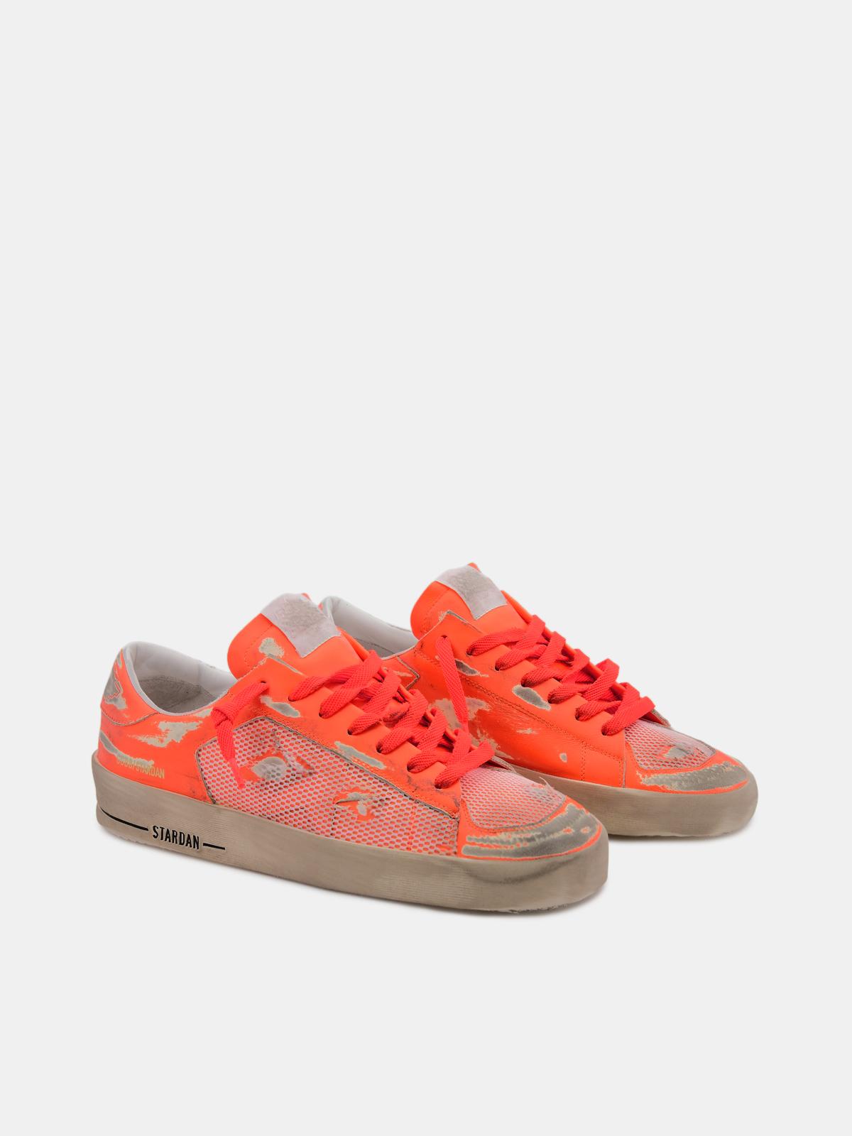 Golden Goose - Sneakers Stardan arancio fluo in