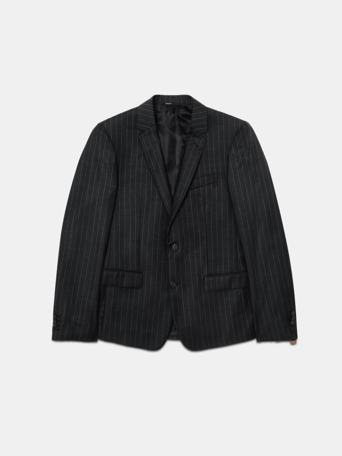 Golden Goose - Milano blazer with pinstripe motif and raw edge details in