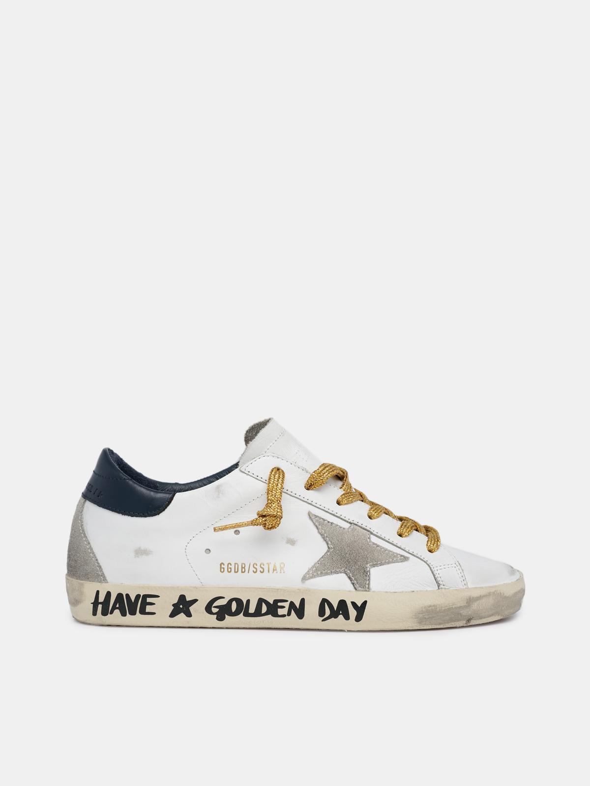Golden Goose - Super-star avec inscription réalisée à la main «Have a Golden Day» in