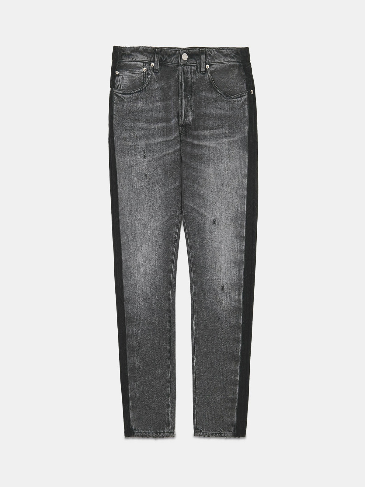 Golden Goose - Jolly jeans in mid wash denim with side band in