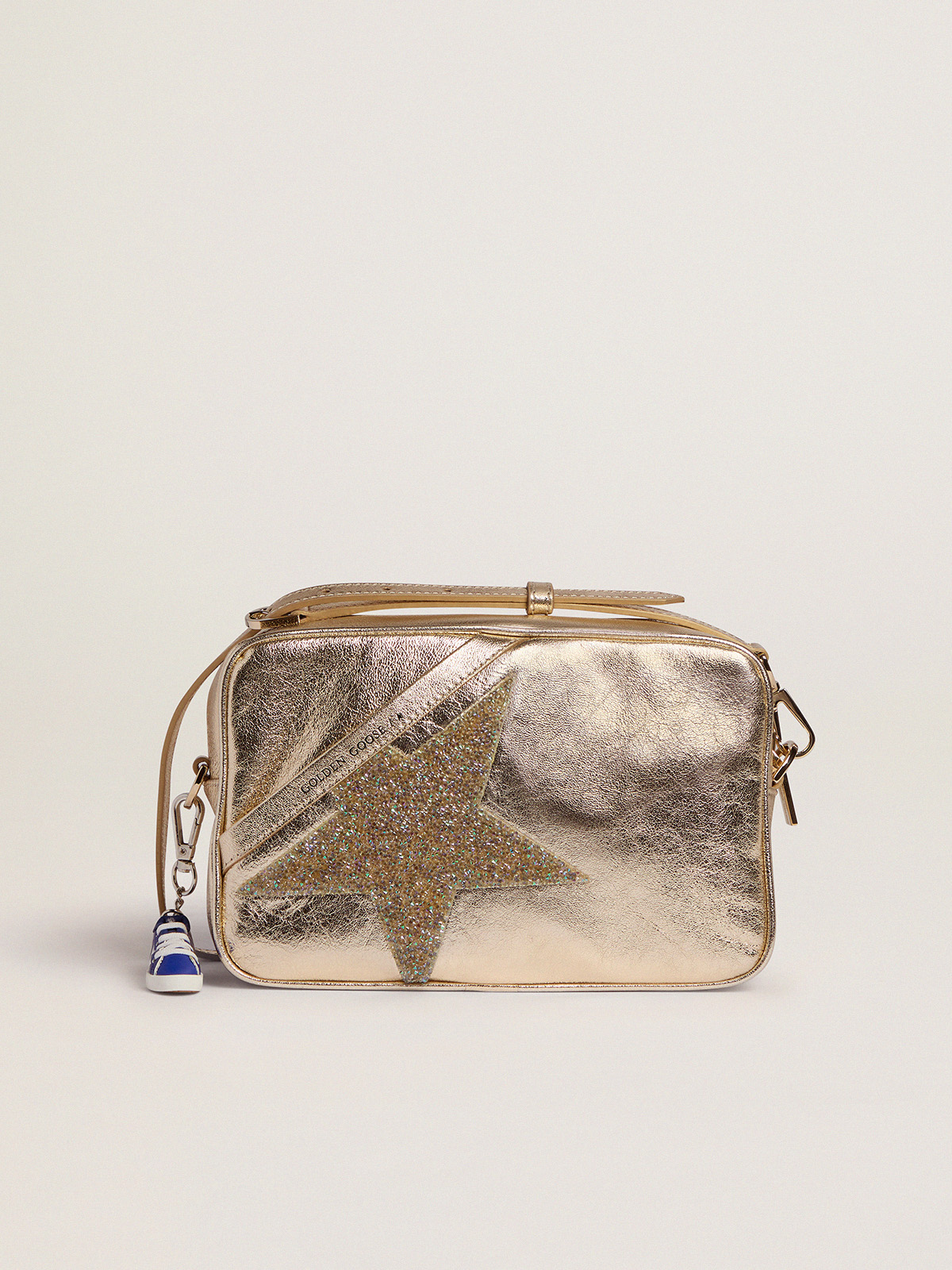 Golden Goose - Golden Star Bag made of laminated leather with Swarovski star in