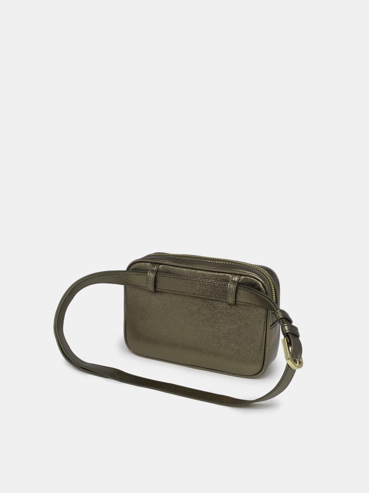 Golden Goose - Star Belt Bag made of green laminated leather in