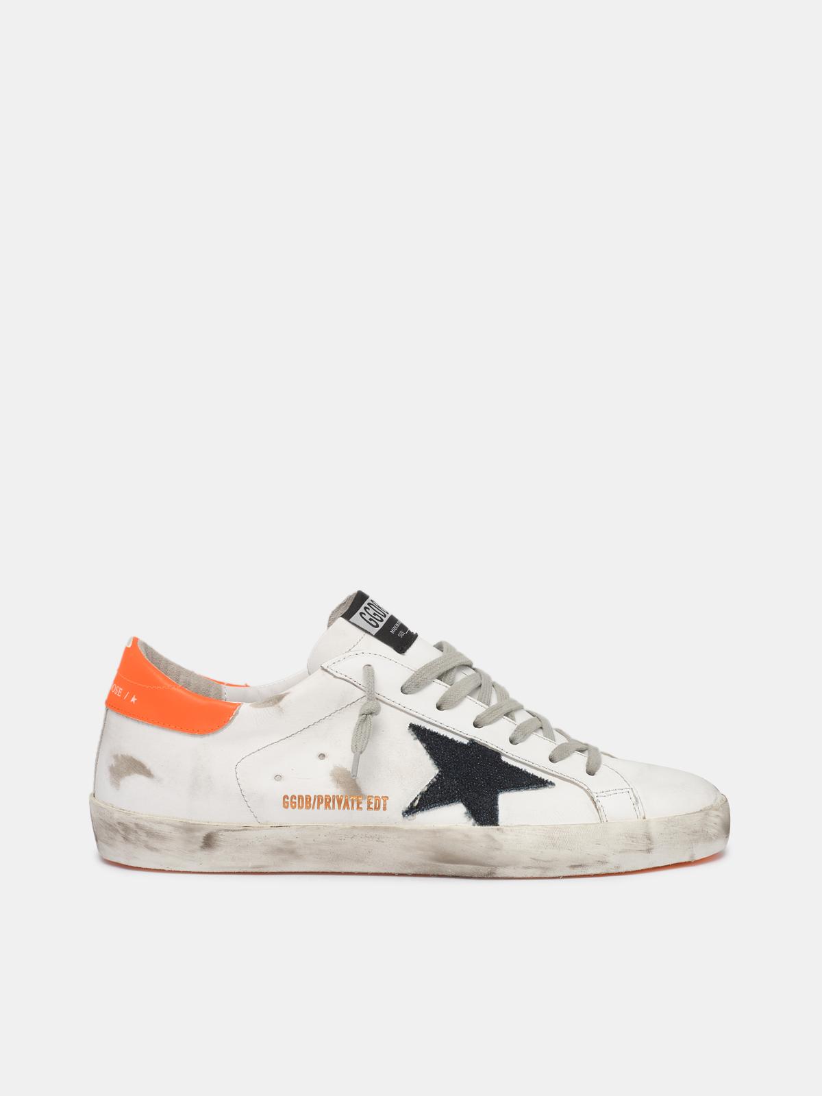 Golden Goose - Men's Super-Star sneakers with orange heel tab   in