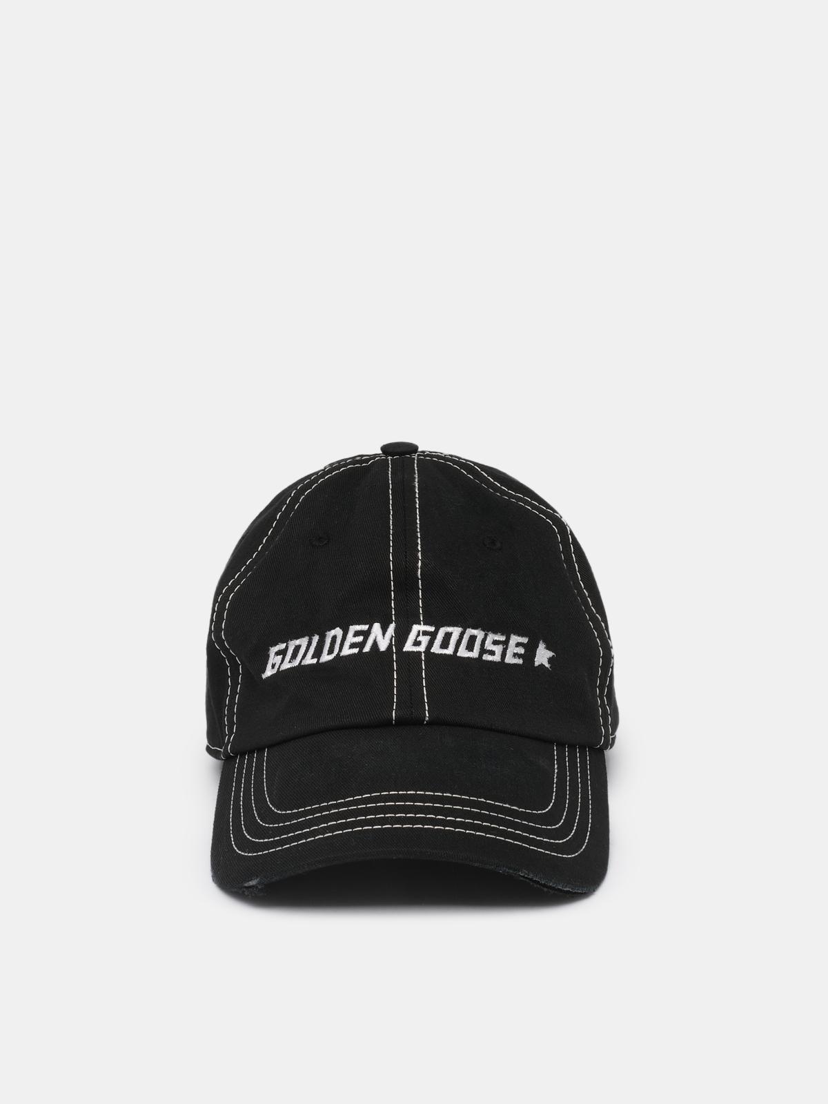 Golden Goose - Aden black baseball cap with contrasting logo in