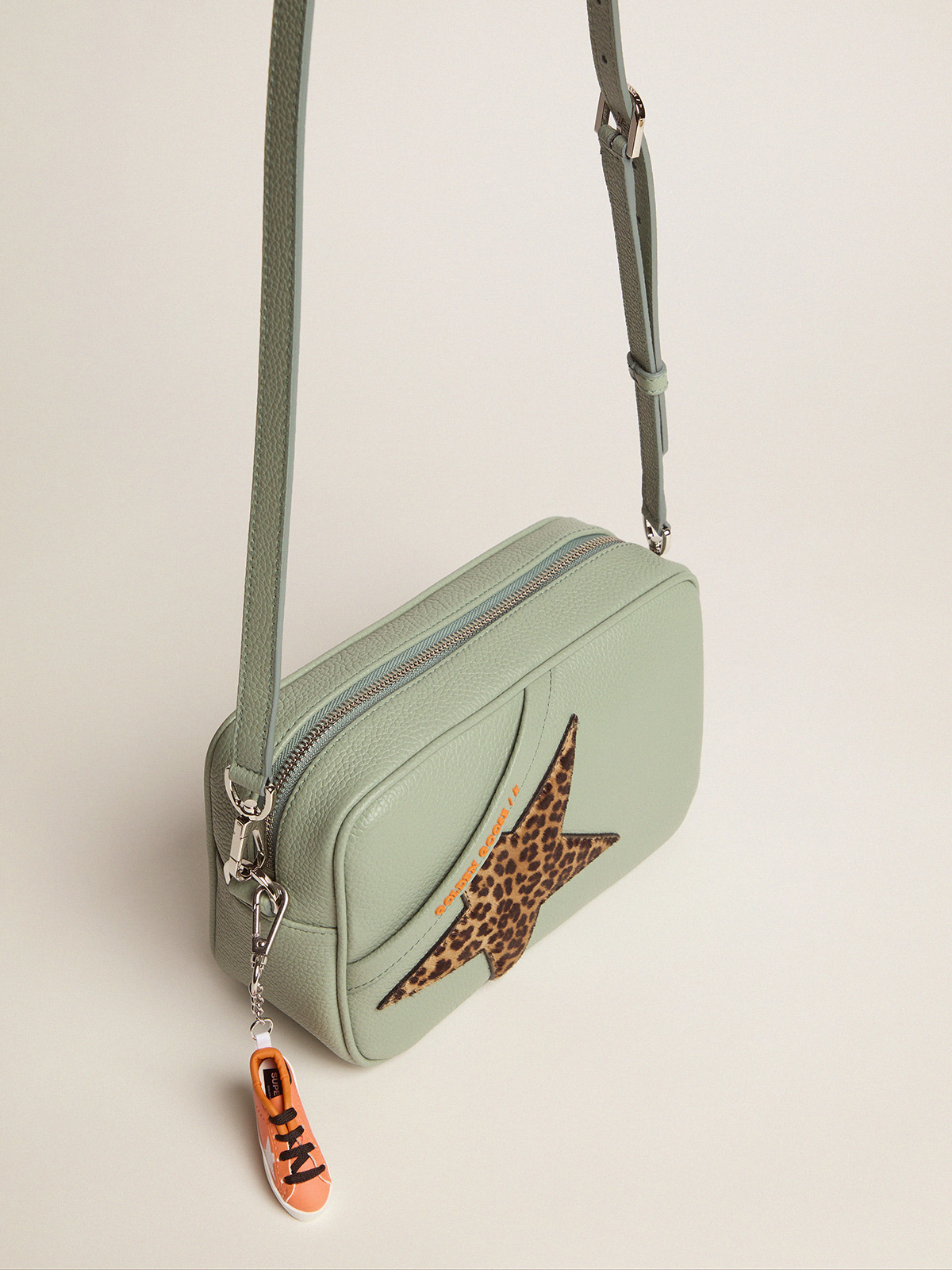 Golden Goose - Sage Star Bag with leopard-print pony skin star in