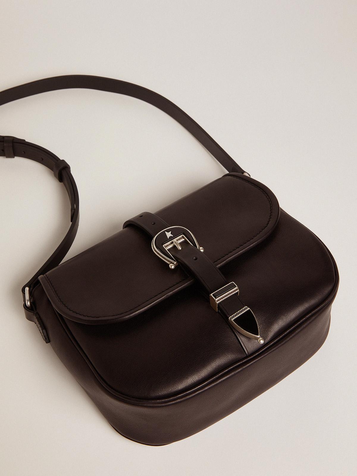 Golden Goose - Medium black leather Rodeo Bag in