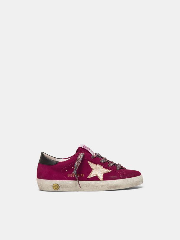 Golden Goose - Sneakers Super-Star in pelle scamosciata e stella laminata in
