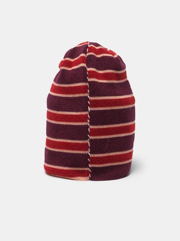 Cuffietta Kyoko in lana con motivo a righe