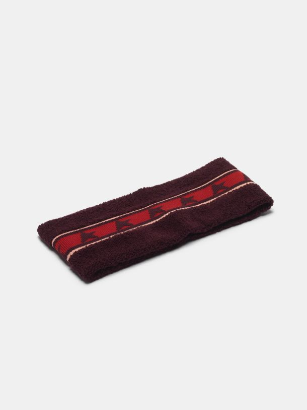Golden Goose - Noa headband in terry stitch with thread embroidery in