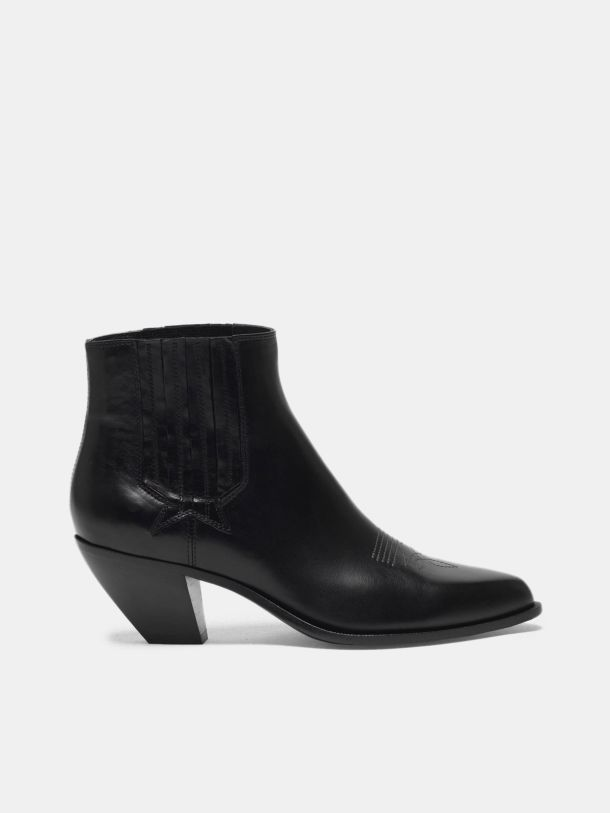 Golden Goose - Sunset ankle boots in black leather in