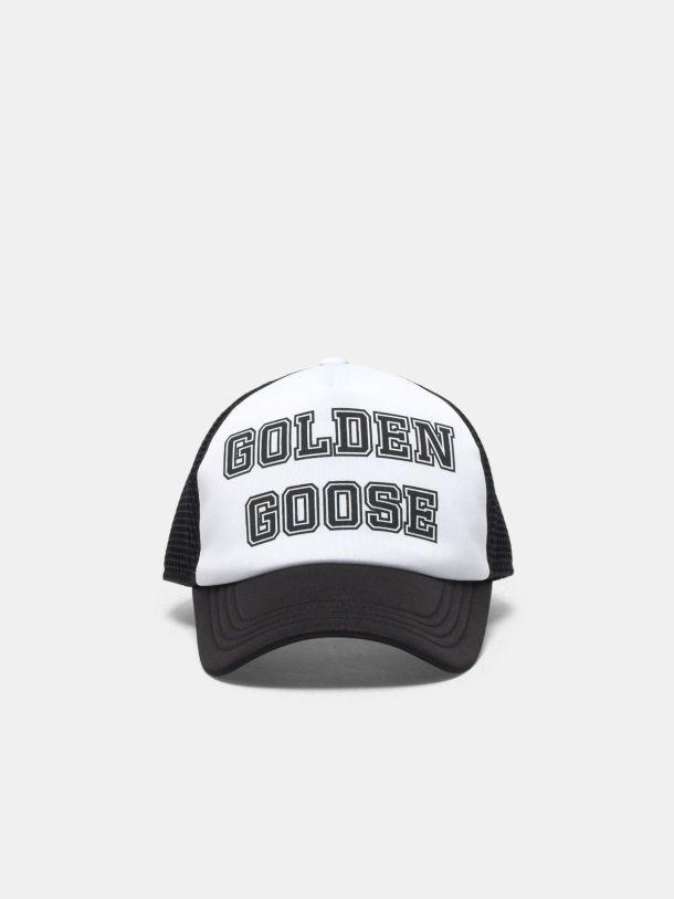 Golden Goose - Golden baseball cap with black logo in