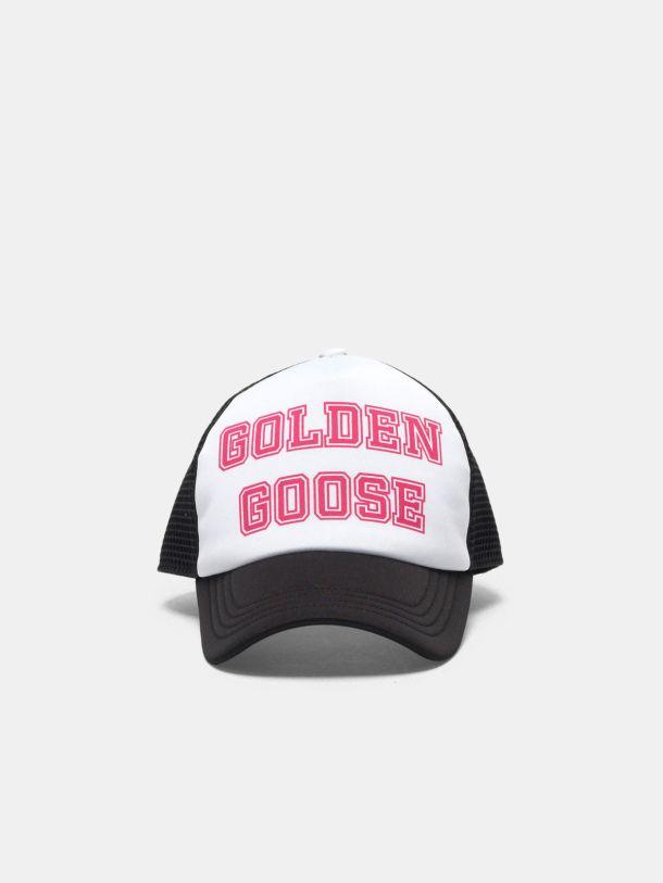 Golden Goose - 퓨시아 로고 장식 Golden 베이스볼 캡 in
