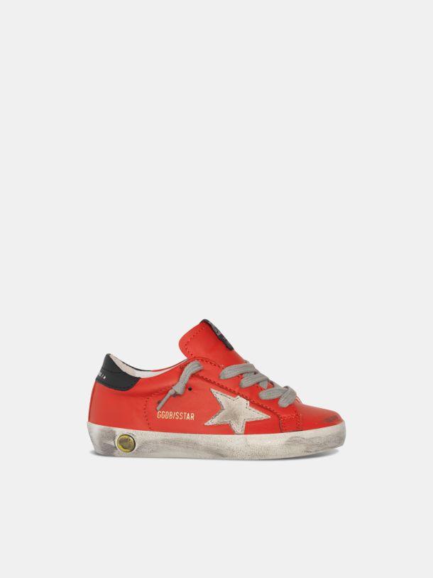 Golden Goose - Sneakers Super-Star en cuir rouge cerise in