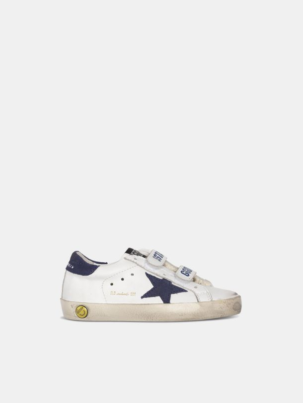 Golden Goose - Old School sneakers with Velcro fastening and navy star in