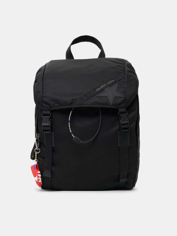 Golden Goose - Black nylon Journey backpack in
