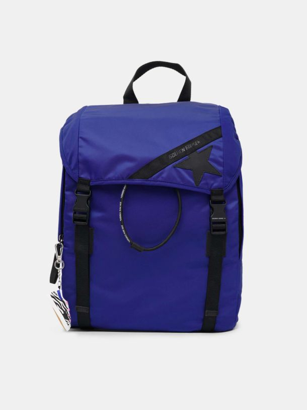 Golden Goose - Royal blue nylon Journey backpack in