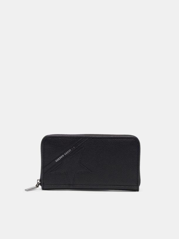 Golden Goose - Portafoglio Star Wallet large nero in