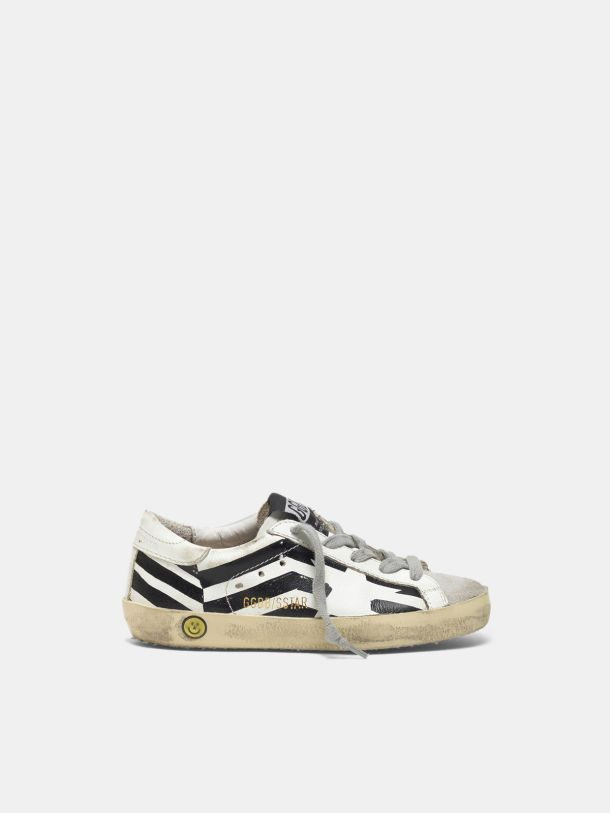 Golden Goose - Super-Star sneakers with screen-printed GGDB flag in