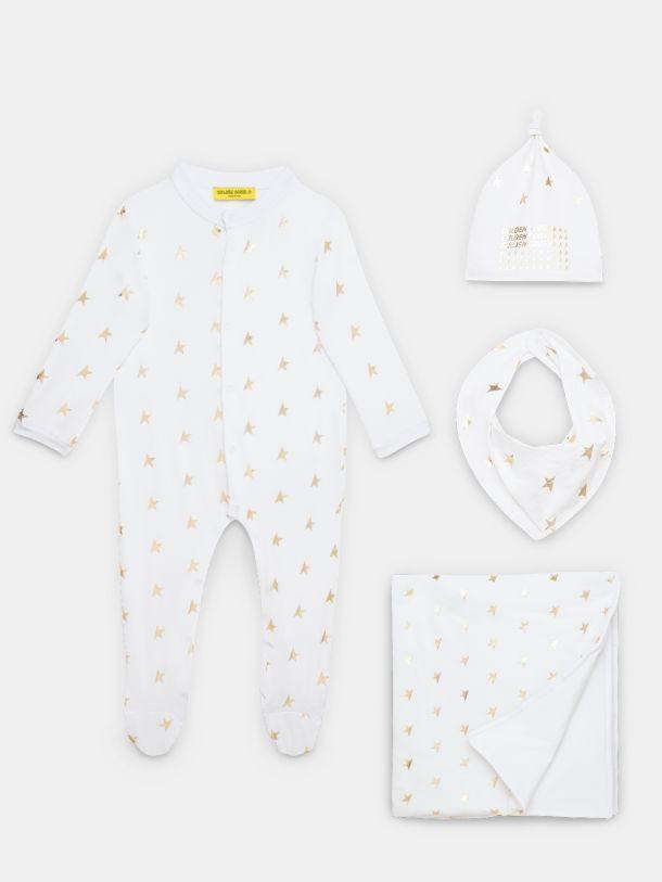 Golden Goose - Conjunto regalo para bebé con estrellas doradas in