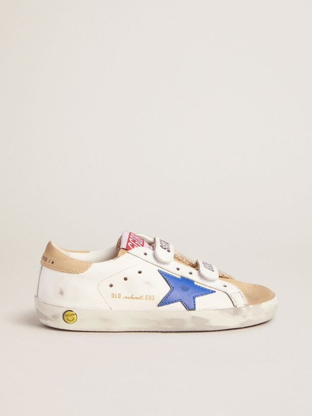 Golden Goose - Old School sneakers with Velcro fastening and blue star in