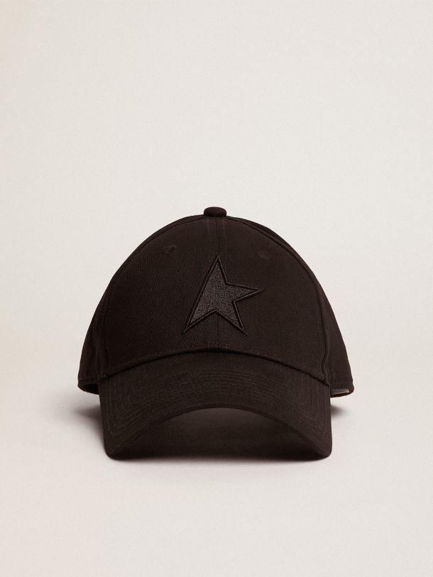 Black Demos Star Collection baseball cap with tone-on-tone star