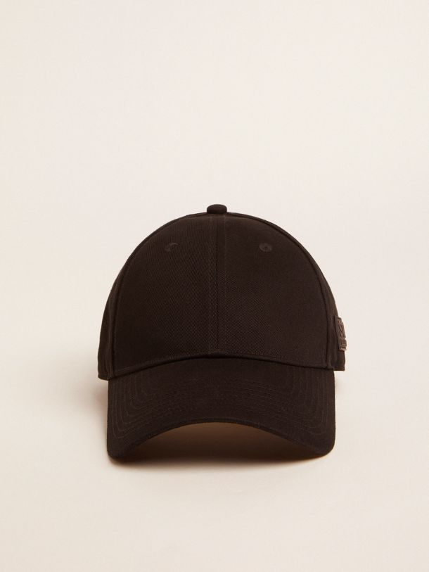 Black Demos Star Collection baseball cap with tone-on-tone logo on the side