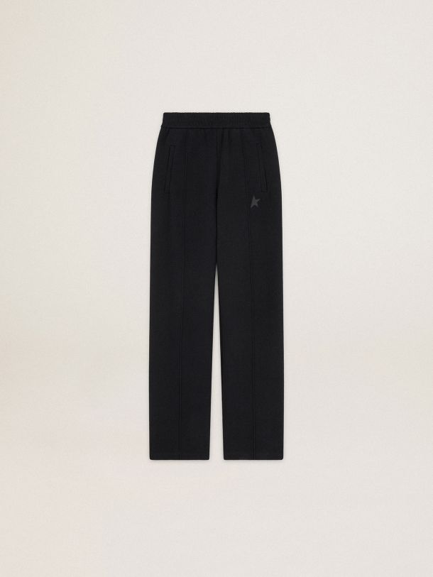 Black Dorotea Star Collection jogging pants with tone-on-tone star on the front