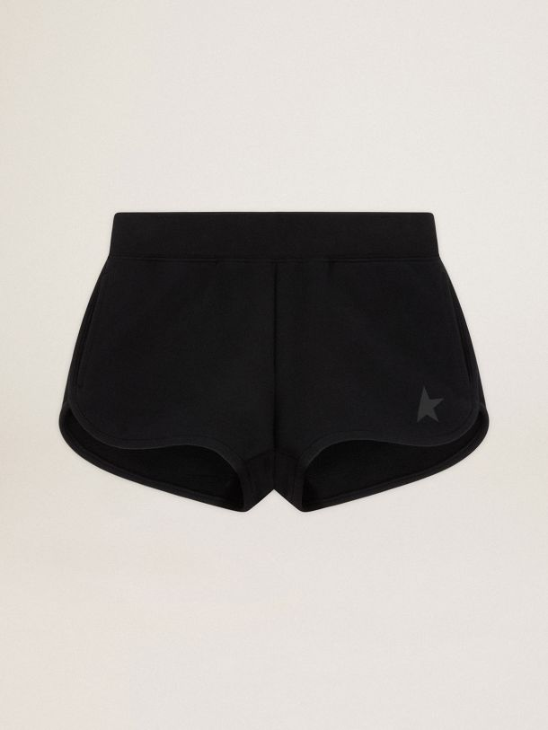Golden Goose - Black Diana Star Collection shorts with tone-on-tone star on the front in