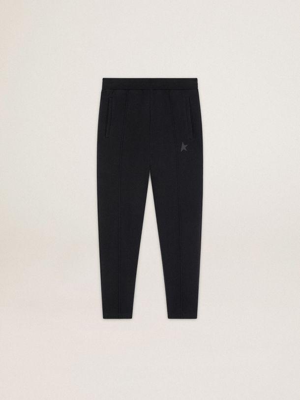 Golden Goose - Pantalón jogger Doro de la Colección Star en color negro con estrella en el delantero tono sobre tono in