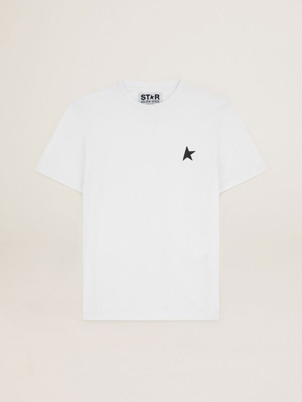 White Star Collection T-shirt with black star on the front