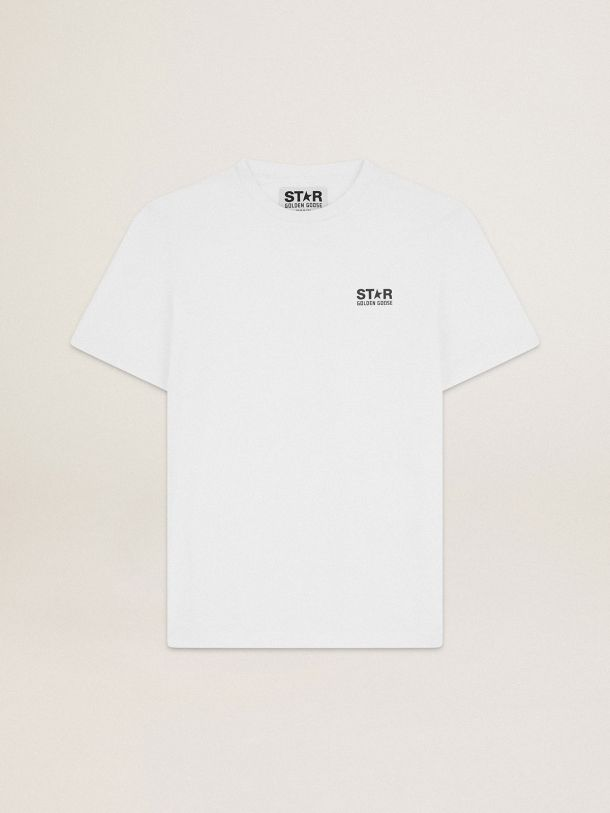 White Star Collection T-shirt with contrasting black logo and star