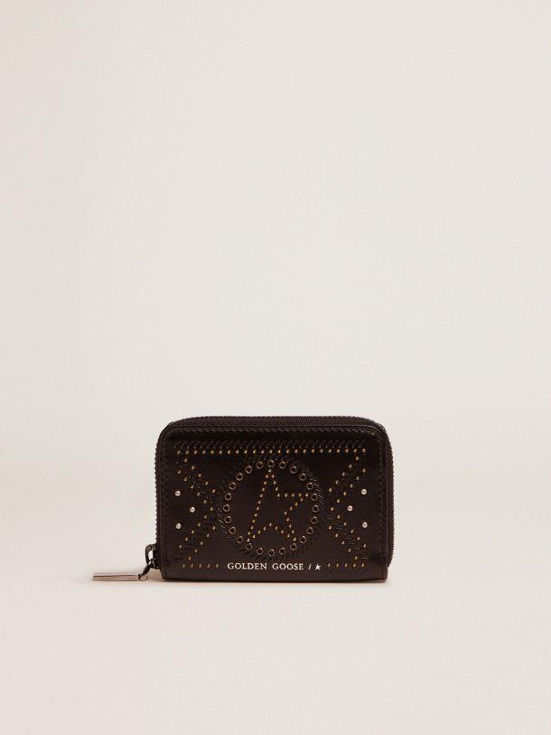 Golden Goose - Portafoglio Star Compact in pelle con borchie   in