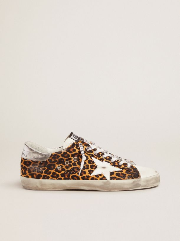 Super-Star LTD sneakers in canvas with leopard-print pattern