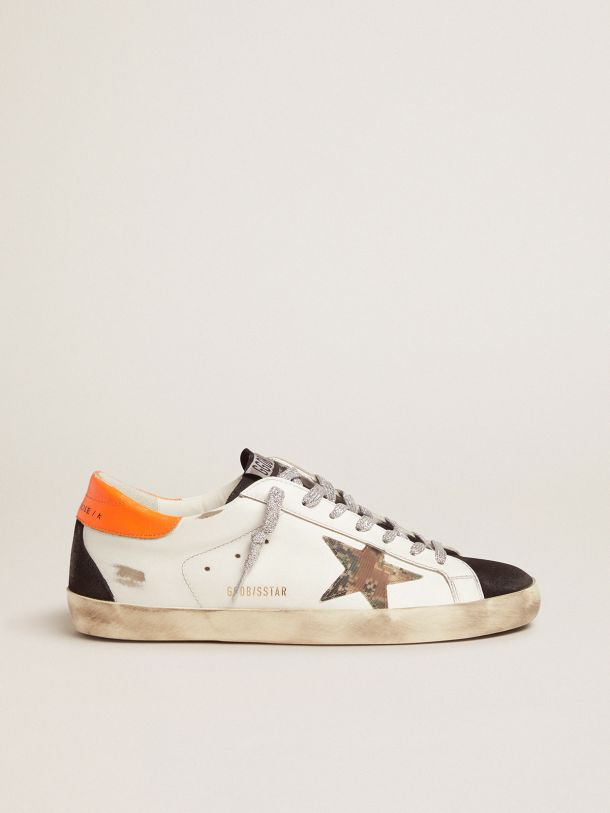 Golden Goose - Sneakers Super-Star con stella pixel camouflage   in